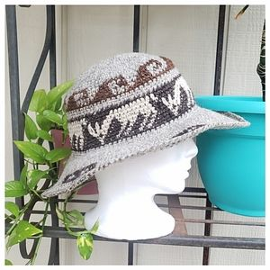 Vintage Accessories - Vintage Woven Floppy Hippie Hat